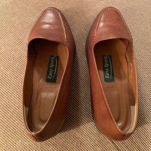 Easy Sprit Brown Leather Loafers Cypress Size 5.5